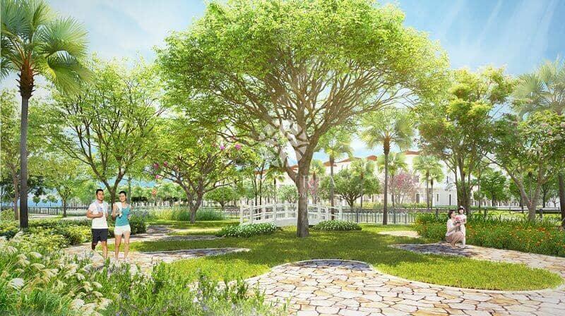 khu vườn xanh mát mang không khí trong lành thuộc dự án chung cư senturia